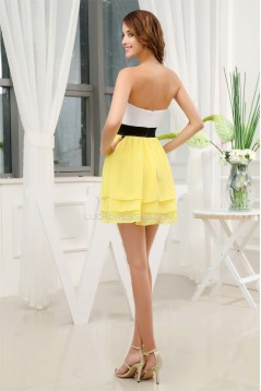 Chiffon Silk like Satin Short/Mini Sweetheart Prom/Formal Evening Dresses 02021076