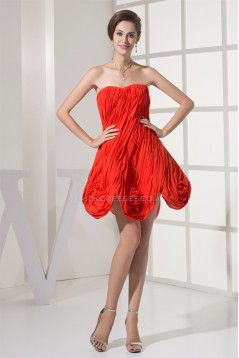 Handmade Flowers Soft Sweetheart Short/Mini Prom/Formal Evening Dresses 02021083