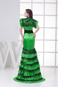 Brush Sweep Train Beading Lace Silk like Satin Prom/Formal Evening Dresses 02020109