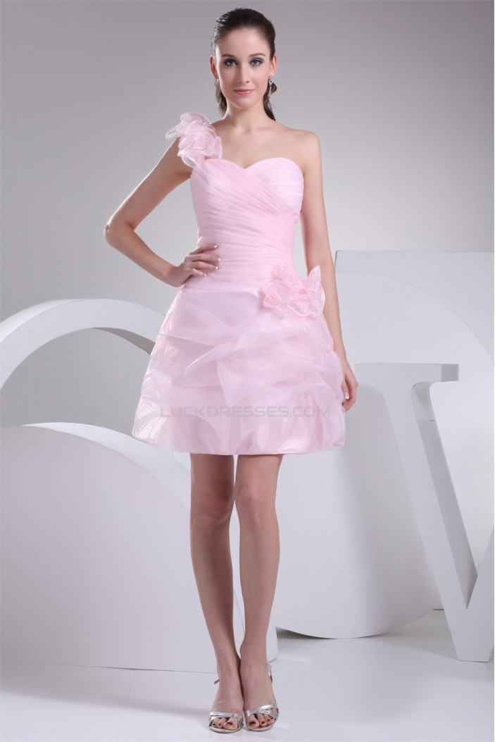 One-Shoulder A-Line Short/Mini Ruffles Prom/Formal Evening Dresses 02021098