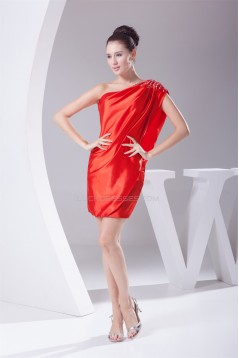 One-Shoulder Sheath/Column Sleeveless Short/Mini Prom/Formal Evening Dresses 02021101