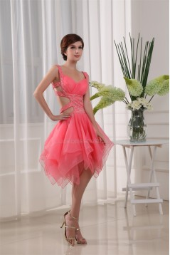 Organza Beading Sleeveless Homecoming Cocktail Party Dresses 02021103