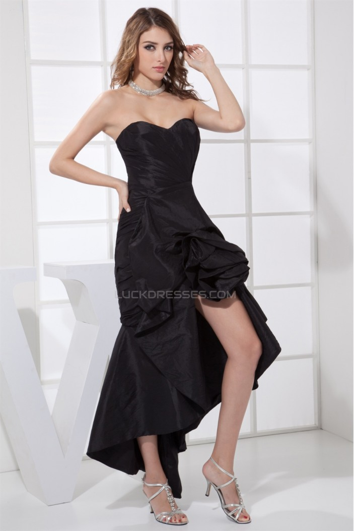 Ruched Sleeveless Strapless Asymmetrical Prom/Formal Evening Dresses 02021108