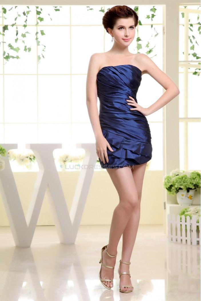 Ruched Taffeta Short/Mini Soft Sweetheart Prom/Formal Evening Dresses 02021109