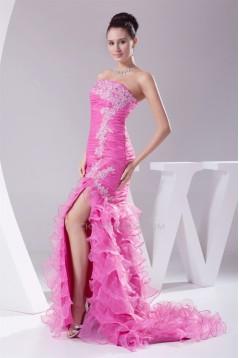 Brush Sweep Train Beading Sleeveless Strapless Long Prom/Formal Evening Dresses 02020111