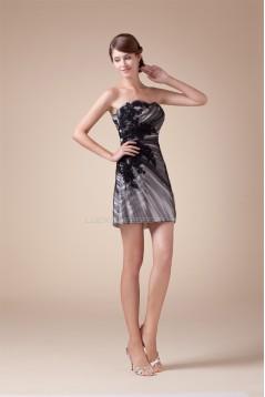 Ruffles Satin Fine Netting Sleeveless Sweetheart Prom/Formal Evening Dresses 02021114