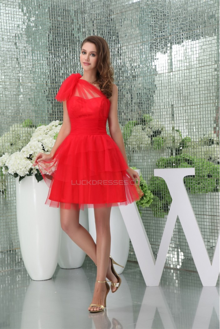 A-Line Ruffles Silk like Satin Fine Netting Prom/Formal Evening Bridesmaid Dresses 02021115