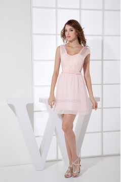 A-Line Knee-Length Short Pink Prom/Formal Evening Dresses 02021116