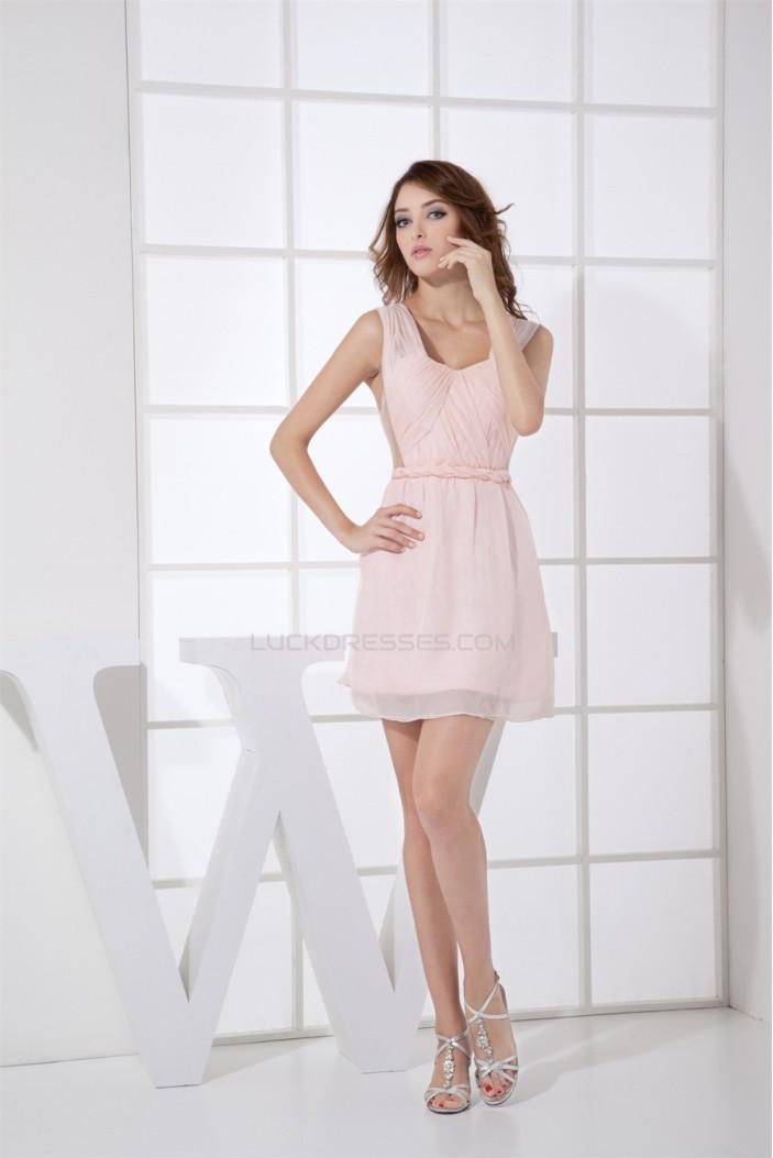 A-Line Knee-Length Short Pink Prom/Formal Evening Dresses 02021116