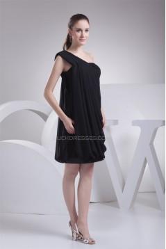 Ruffles Sleeveless One-Shoulder A-Line Short/Mini Sequins Dresses 02021117