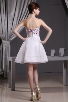 Satin Organza A-Line Strapless Sleeveless Prom/Formal Evening Dresses 02021123