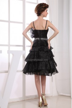 Satin Tulle Knee-Length Sleeveless A-Line Prom/Formal Evening Dresses 02021126