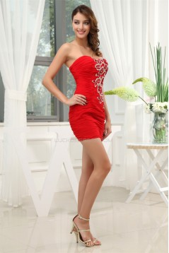 Sheath/Column Beading Short/Mini Sleeveless Prom/Formal Evening Dresses 02021131