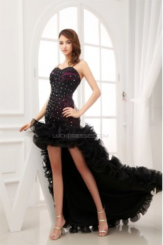 High Low Beading Sleeveless Puddle Train Prom/Formal Evening Dresses 02021132