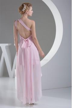 Sheath/Column Chiffon One-Shoulder Prom/Formal Evening Dresses 02021134