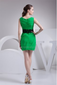 Sheath/Column Lace Scoop Short/Mini Sleeveless Prom/Formal Evening Dresses 02021136