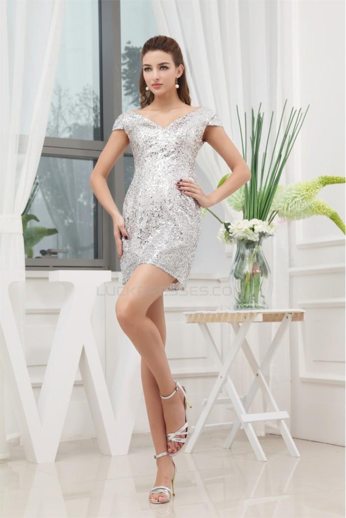 Short/Mini V-Neck Sequin Prom/Formal Evening Dresses 02021140