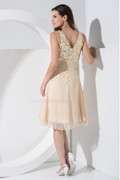 A-Line V-Neck Sequin Short Prom/Formal Evening Dresses 02021142