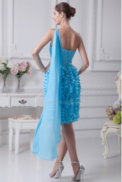 Sheath/Column One-Shoulder Chiffon Sleeveless Evening Party Dresses 02021144