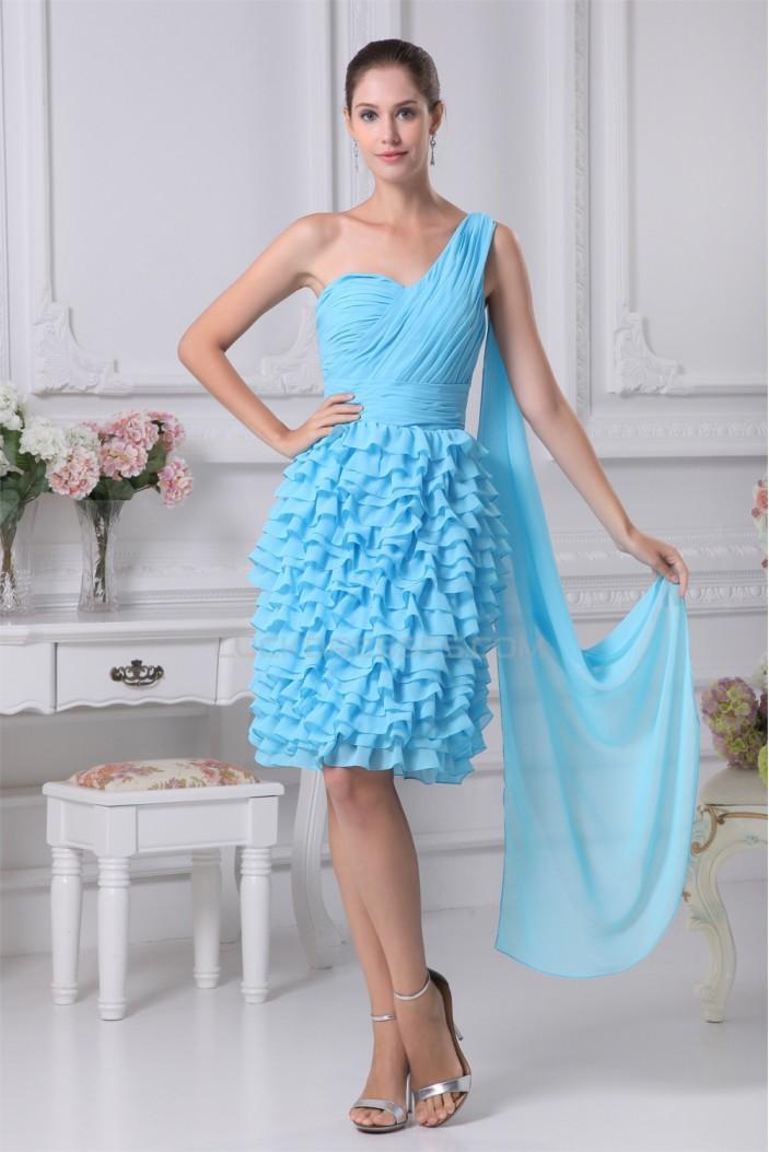 Sheath/Column One-Shoulder Chiffon Sleeveless Evening Party Dresses 02021144