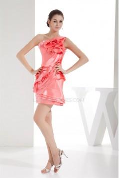 Sheath/Column Short/Mini One-Shoulder Prom/Formal Evening Dresses 02021149