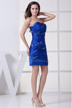 Sheath/Column Sleeveless Strapless Silk like Satin Prom/Formal Evening Dresses 02021153