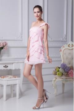Short/Mini A-Line Sleeveless One-Shoulder Prom/Formal Evening Dresses 02021158