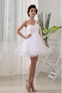 Short/Mini Beading Short White Cocktail Party Evening Dresses 02021161
