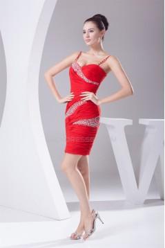 Short/Mini Chiffon Spaghetti Straps Prom/Formal Evening Dresses 02021164