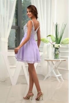 A-Line Short/Mini Chiffon Beaded Prom/Formal Evening Dresses 02021165