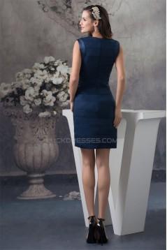 Short/Mini Joints Sleeveless Sheath/Column Bridesmaid Dresses 02021170