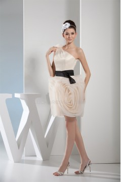 Short/Mini One-Shoulder Sleeveless A-Line Prom/Formal Evening Dresses 02021173