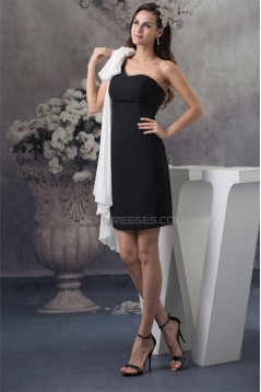 Short/Mini One-Shoulder Sleeveless Sheath/Column Prom/Formal Evening Dresses 02021174