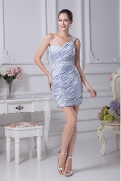 Short/Mini Ruffles Sleeveless Silk like Satin Prom/Formal Evening Dresses 02021178