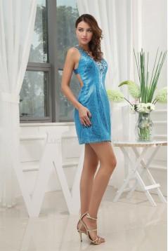 Short/Mini Sequined Material V-Neck Sheath/Column Prom/Formal Evening Dresses 02021179