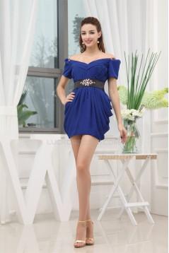 Short/Mini Short Chiffon Silk like Satin Prom/Formal Evening Dresses 02021180