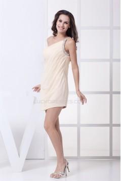 Short/Mini Sleeveless Sheath/Column Beading Prom/Formal Evening Dresses 02021184