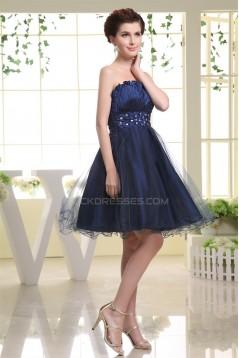 Short/Mini Sleeveless Strapless Beading Prom/Formal Evening Dresses 02021185
