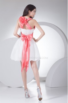 Short/Mini Sleeveless Taffeta A-Line Bow s Prom/Formal Evening Dresses 02021186