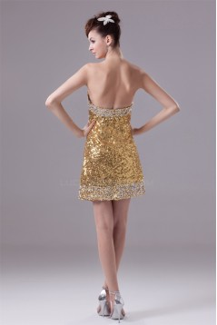 Short/Mini Soft Sweetheart Sequined Material Prom/Formal Evening Dresses 02021187