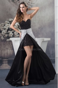 Sequined Material Sweetheart Sheath/Column Split Front Prom/Formal Evening Dresses 02021190