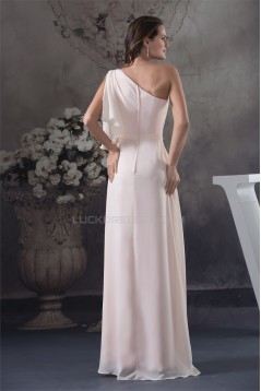 One-Shoulder Chiffon Long Prom/Formal Evening Bridesmaid Dresses 02021191