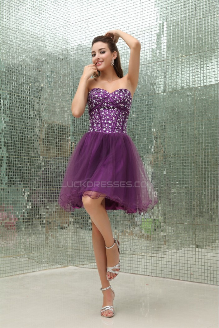 A-Line Beaded Fine Netting Sleeveless Prom/Formal Evening Dresses 02021194