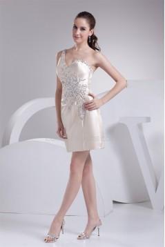 Silk like Satin Short/Mini A-Line Beading Prom/Formal Evening Dresses 02021197
