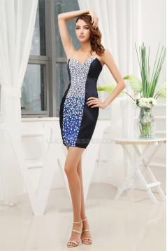 Silk like Satin Sleeveless Short/Mini Sweetheart Prom/Formal Evening Dresses 02021199