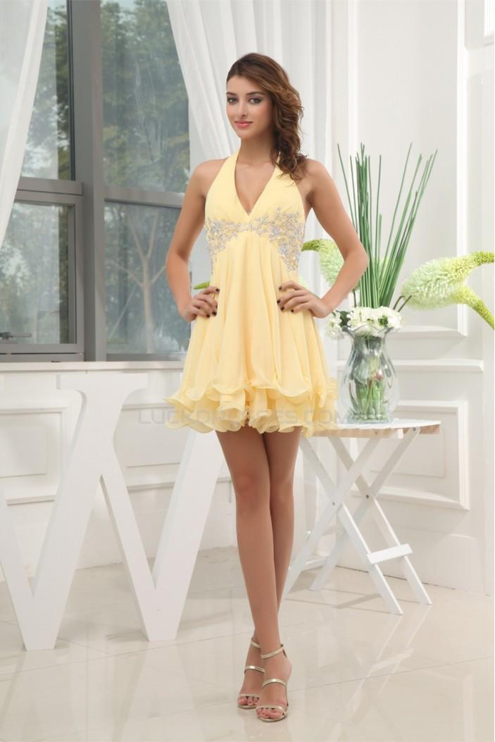 A-Line Short/Mini Sleeveless Chiffon Prom/Formal Evening Dresses 02021200