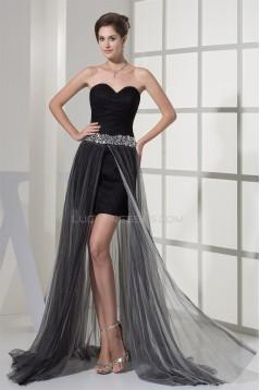 Beading Brush Sweep Train Lace Fine Netting Prom/Formal Evening Dresses 02021203