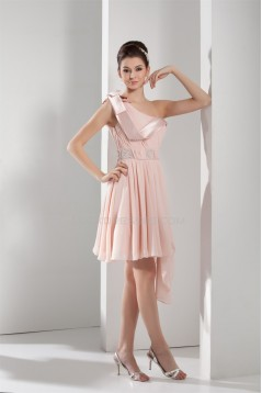 A-Line One-Shoulder Beading Chiffon Prom/Formal Evening Dresses 02021205