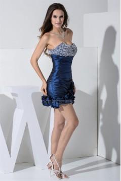 Beading Taffeta Short/Mini Sweetheart Prom/Formal Evening Dresses 02021208