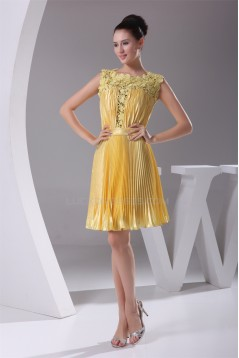 A-Line Lace Silk like Satin Straps Ruffles Evening Bridesmaid Dresses 02021211
